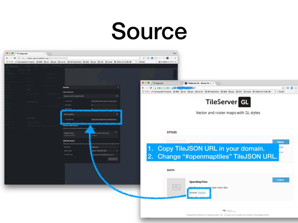 Source 56 1. Copy TileJSON URL in your domain. ...