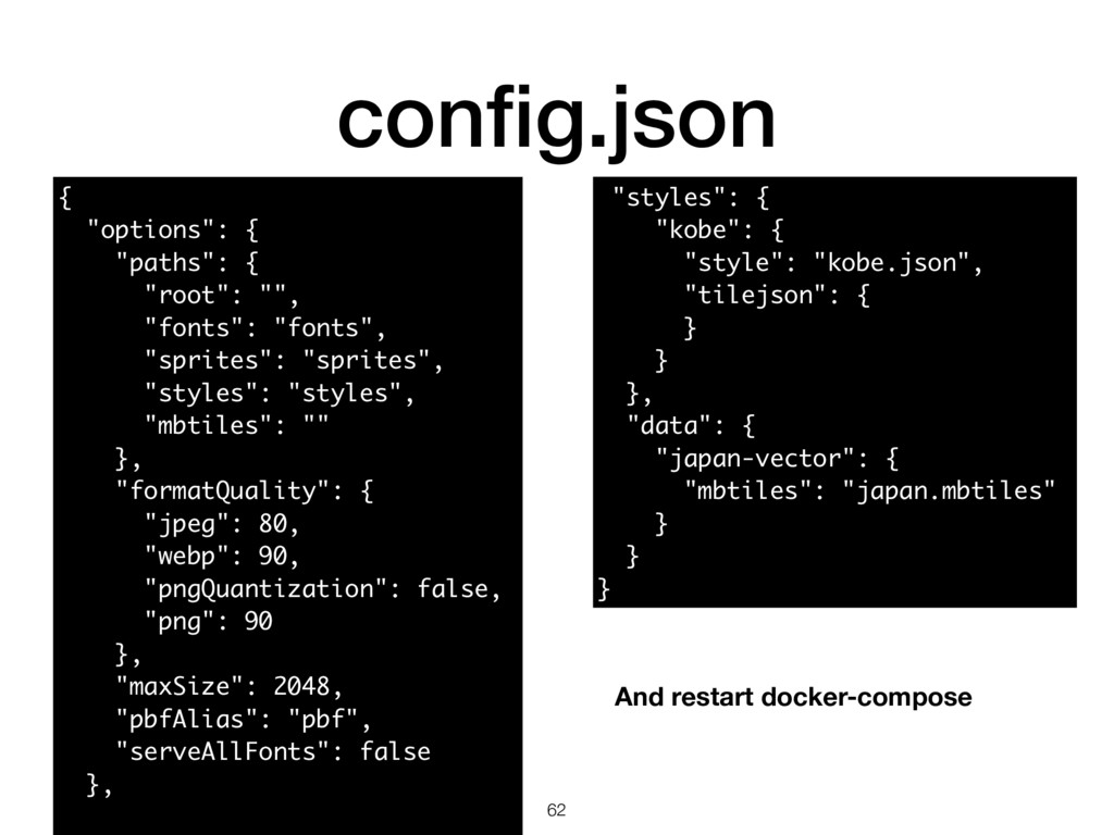 """config.json 62 { """"options"""": { """"paths"""": { """"root"""":..."""