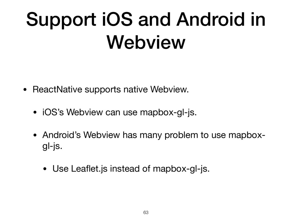 Support iOS and Android in Webview • ReactNativ...