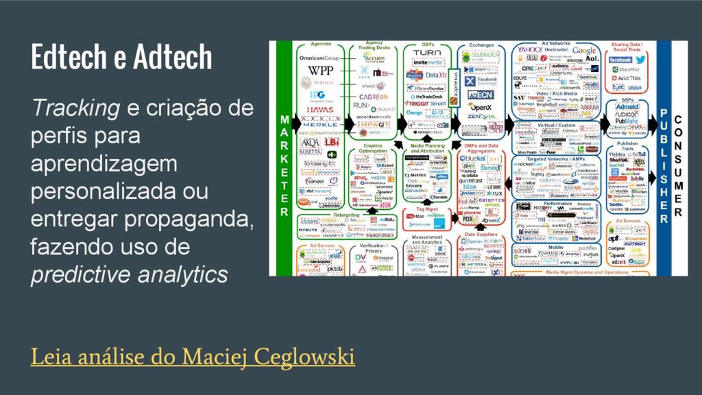 Edtech e Adtech Leia análise do Maciej Ceglowsk...