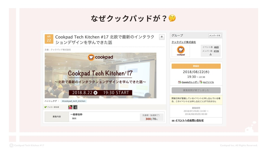 Cookpad Inc. All Rights Reserved. Cookpad Tech ...