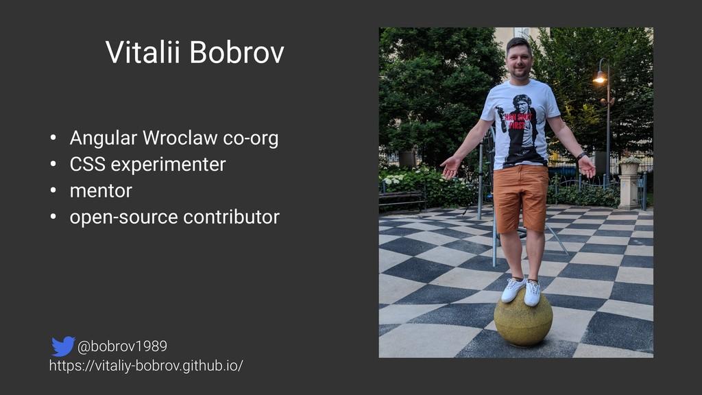 Vitalii Bobrov • Angular Wroclaw co-org • CSS e...