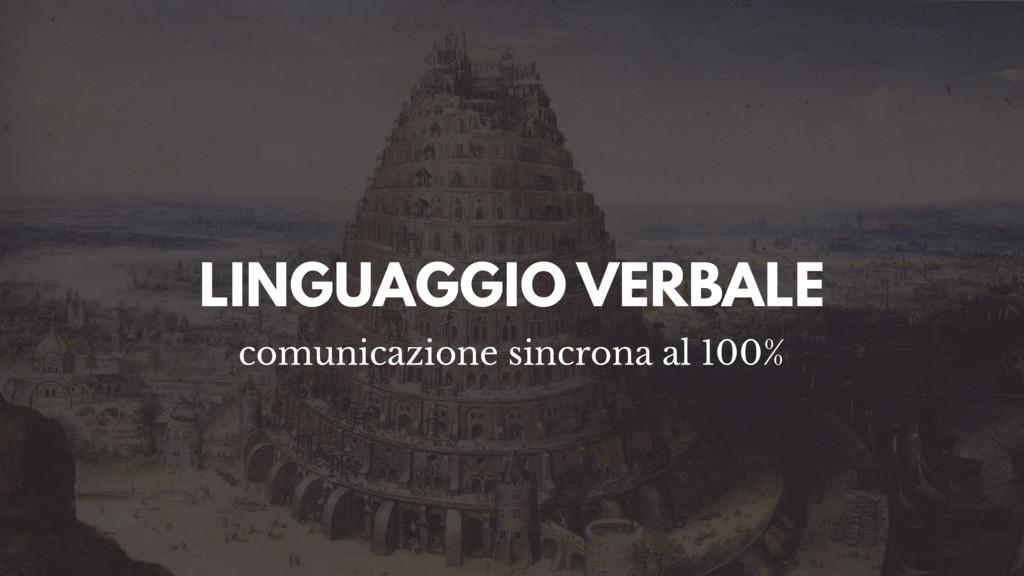 LINGUAGGIO VERBALE comunicazione sincrona al 10...