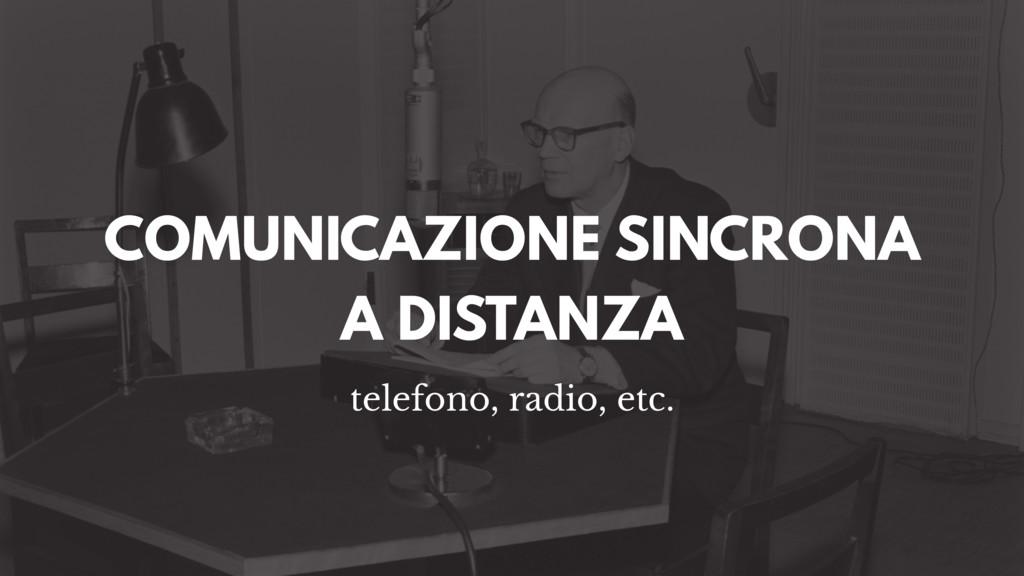 COMUNICAZIONE SINCRONA A DISTANZA telefono, rad...