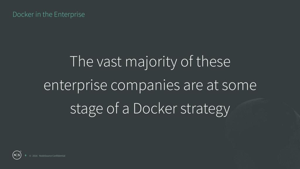 © 2016 NodeSource Confidential Docker in the En...