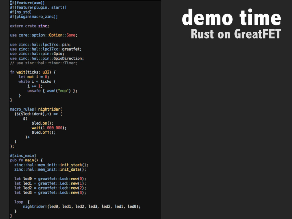 demo time Rust on GreatFET