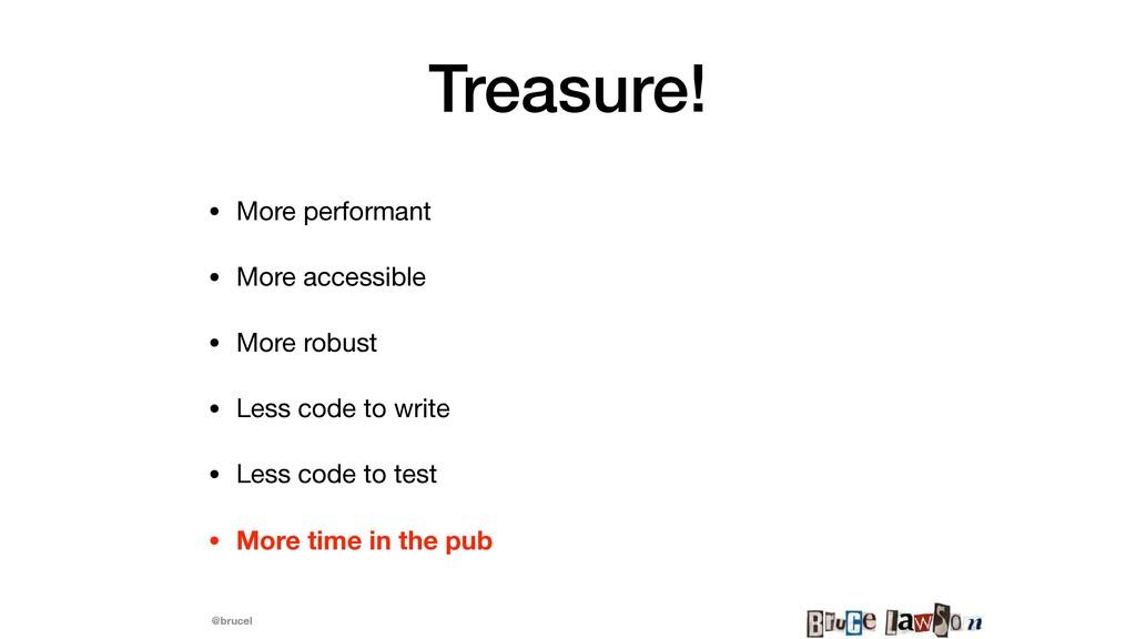 @brucel Treasure! • More performant  • More acc...