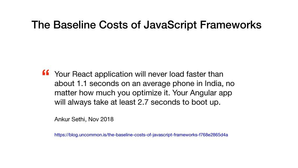 The Baseline Costs of JavaScript Frameworks   Y...