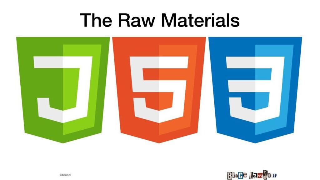 @brucel The Raw Materials