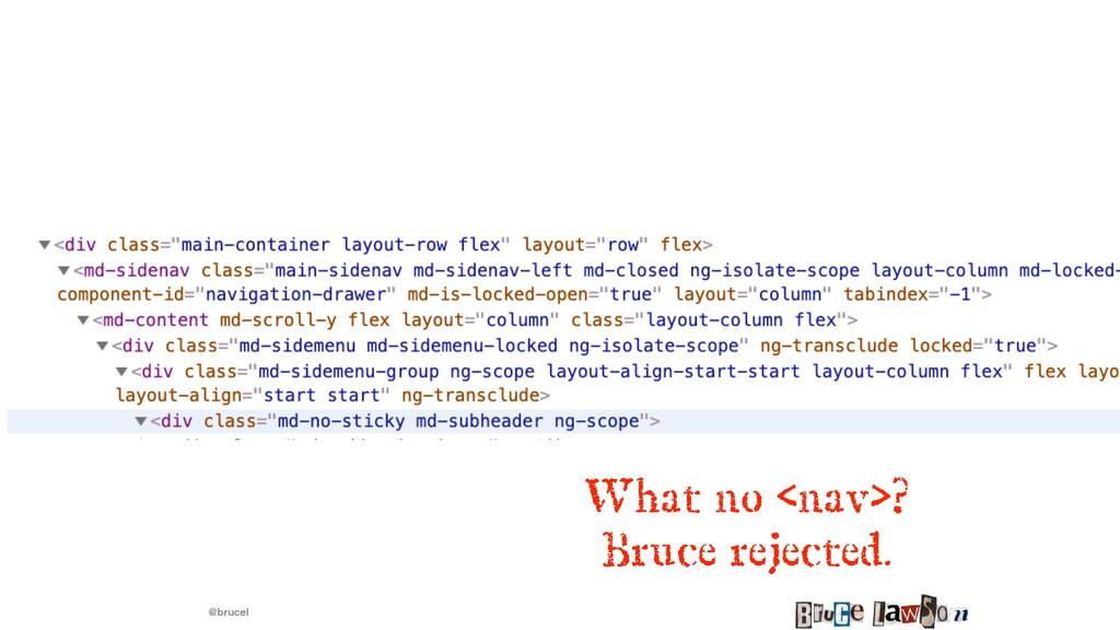 @brucel What no <nav>?   Bruce rejected.