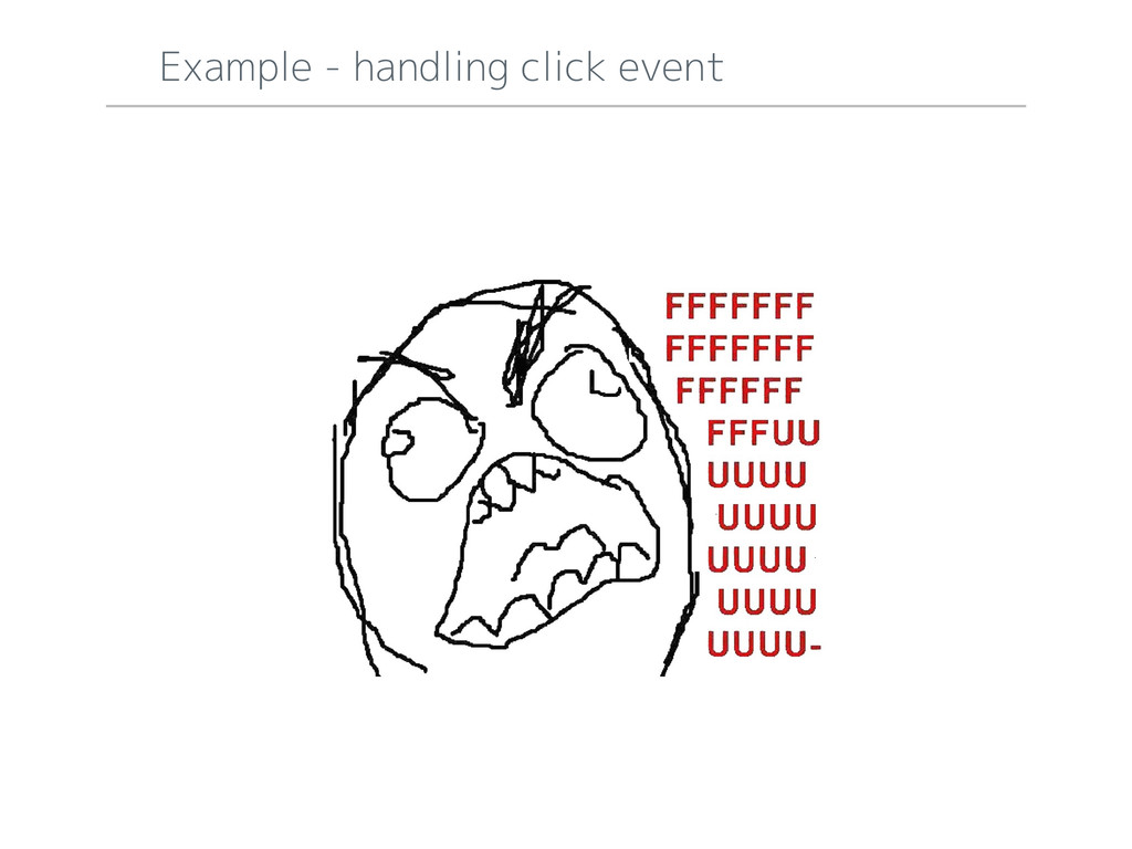 Example - handling click event