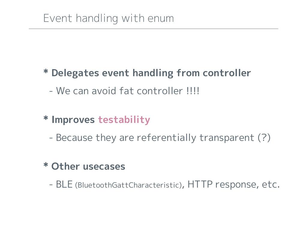* Delegates event handling from controller - We...