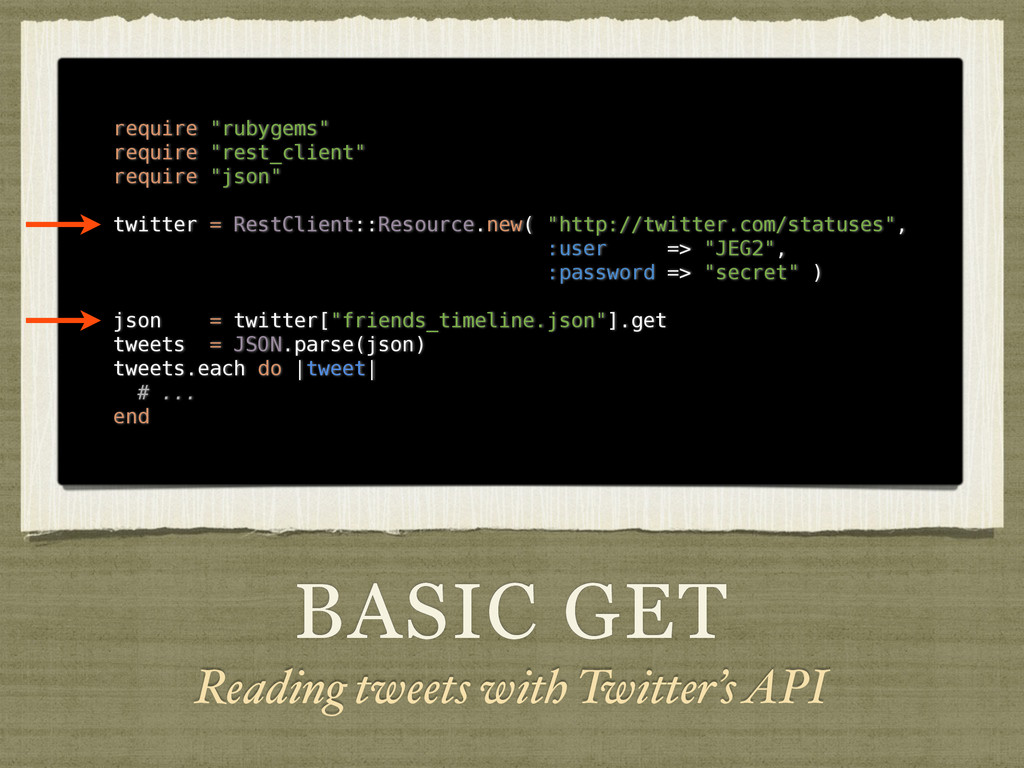 BASIC GET Reading tweets with Twitter's API req...