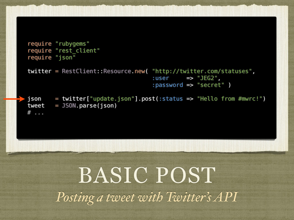 BASIC POST Posting a tweet with Twitter's API r...