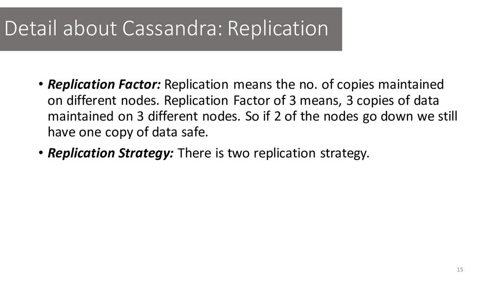 • Replication Factor: Replication means the no....