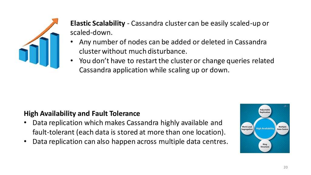 20 Elastic Scalability - Cassandra cluster can ...