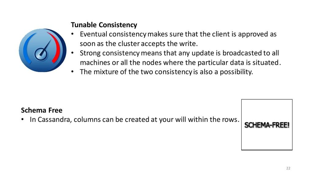 22 Tunable Consistency • Eventual consistency m...