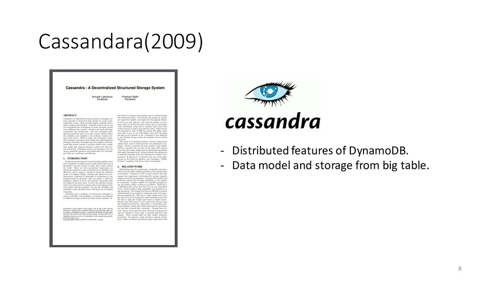 Cassandara(2009) 8 - Distributed features of Dy...