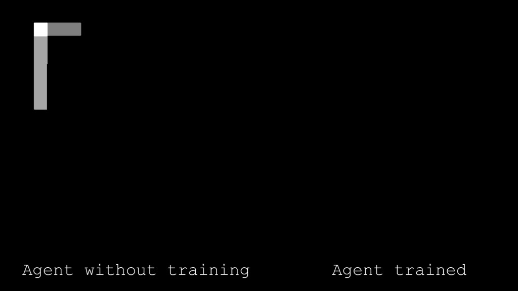 Agent without training Agent trained