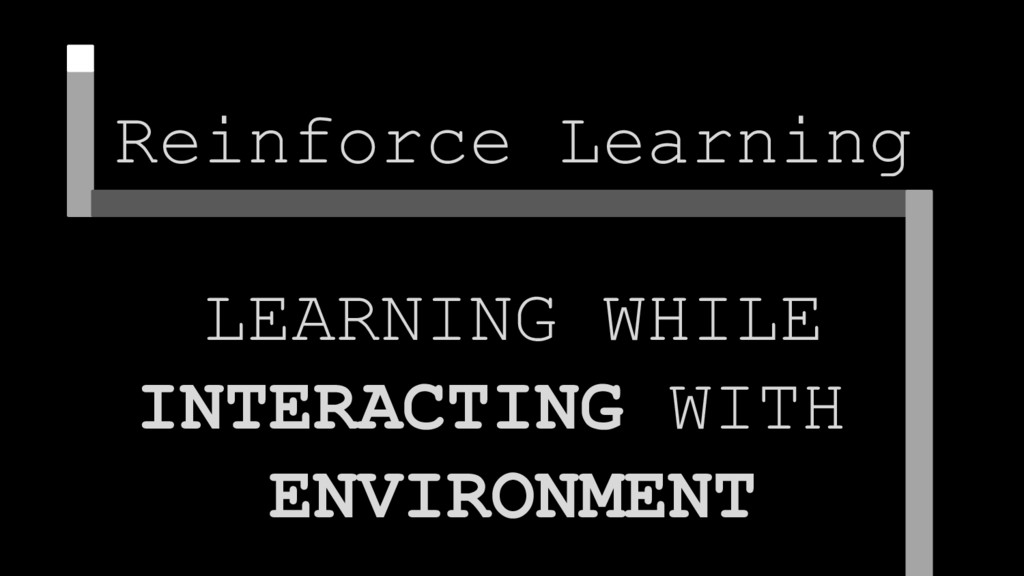 Reinforce Learning LEARNING WHILE INTERACTING W...