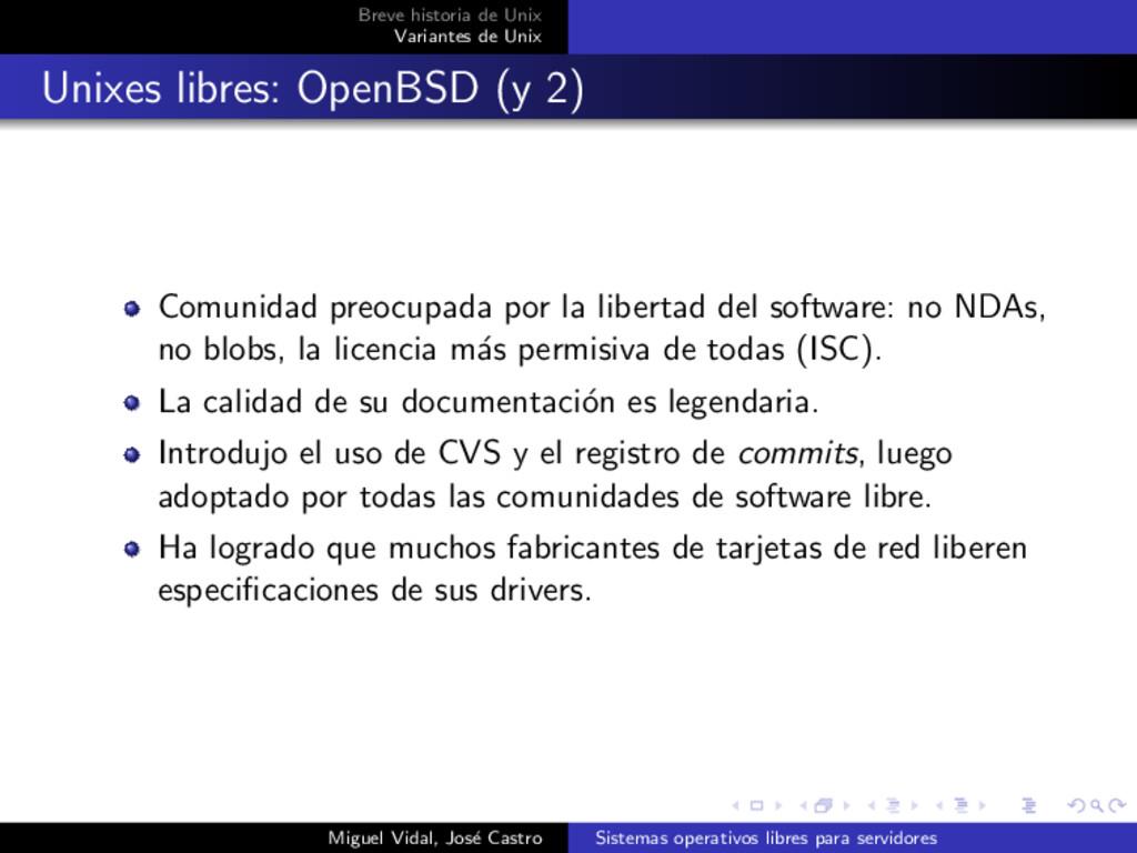 Breve historia de Unix Variantes de Unix Unixes...