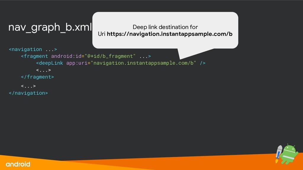 nav_graph_b.xml <navigation ...> <fragment andr...