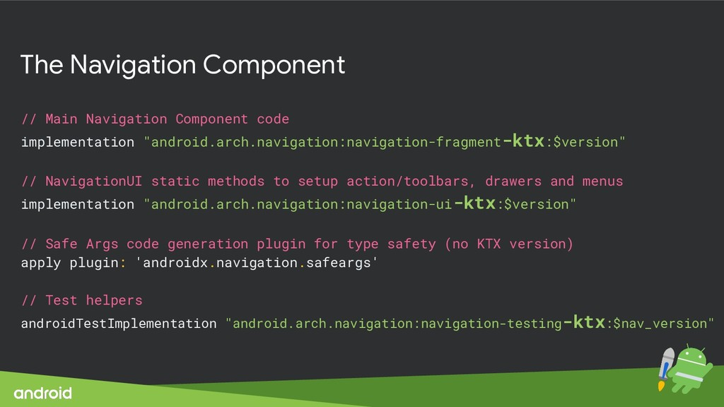 The Navigation Component // Main Navigation Com...