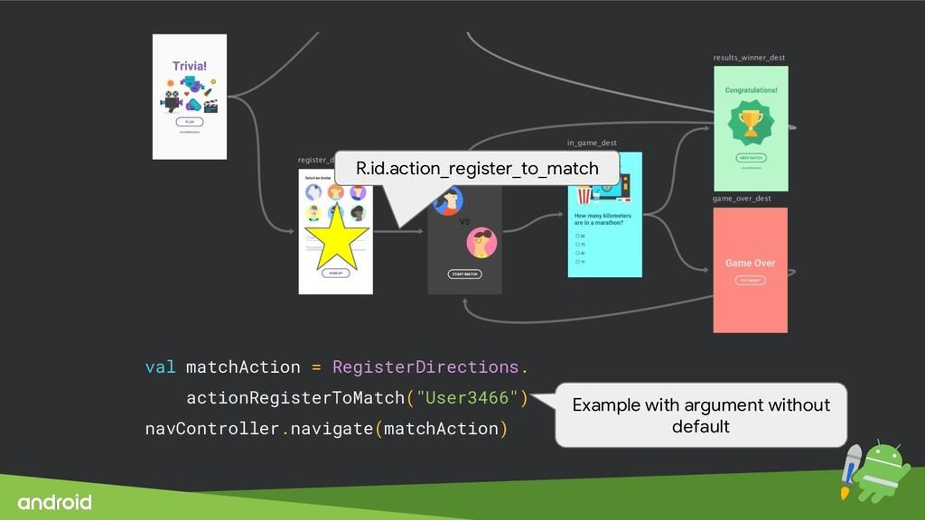 val matchAction = RegisterDirections. actionReg...