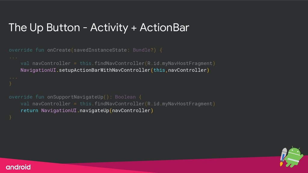 The Up Button - Activity + ActionBar override f...