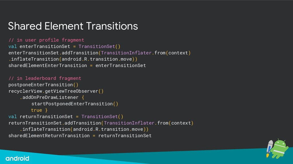 Shared Element Transitions // in user profile f...
