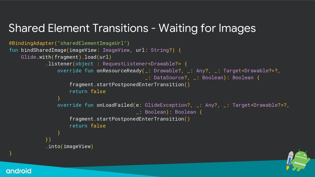 Shared Element Transitions - Waiting for Images...
