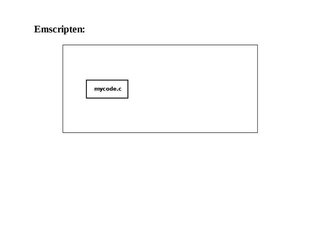 Emscripten: mycode.c