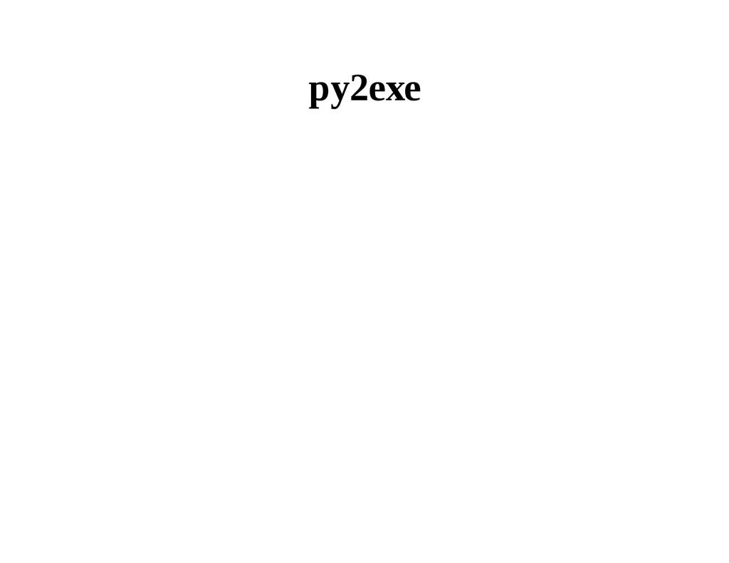py2exe