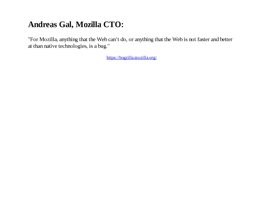 """Andreas Gal, Mozilla CTO: """"For Mozilla, anythin..."""