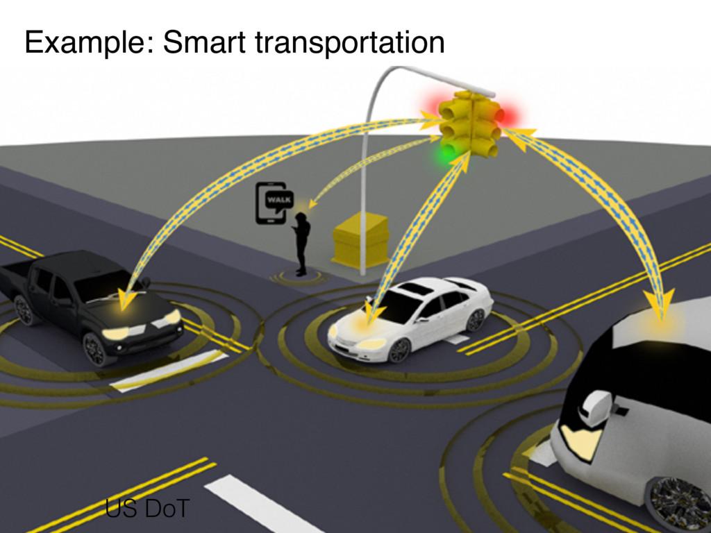 Example: Smart transportation US DoT