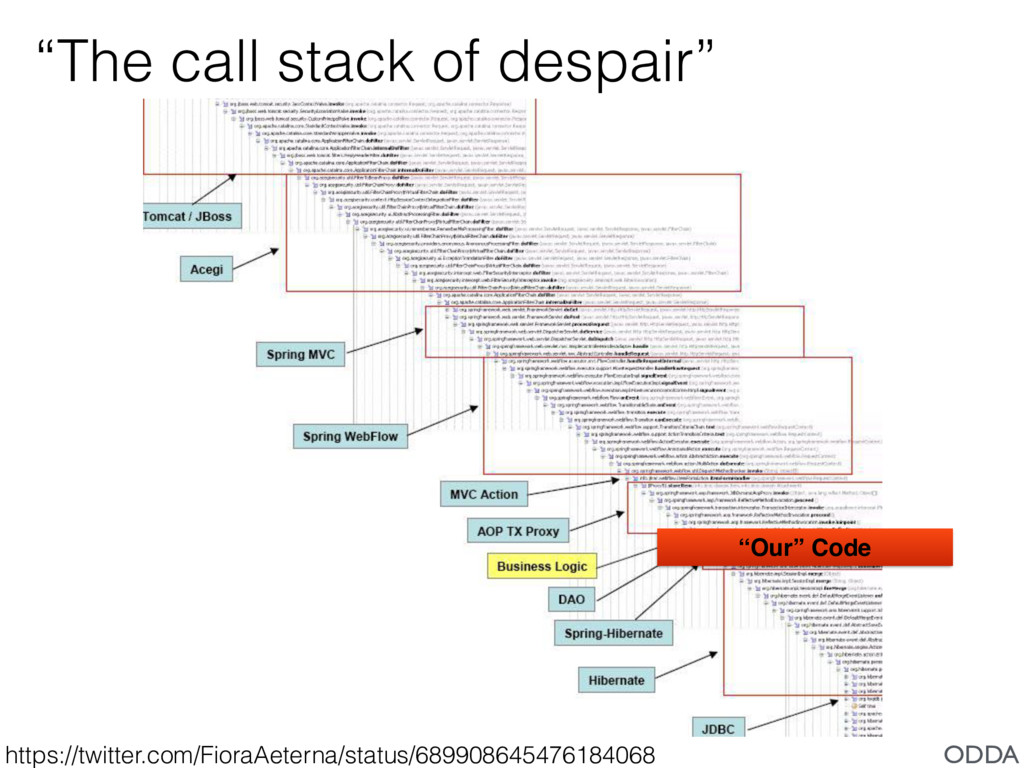 """""""The call stack of despair"""" https://twitter.com..."""