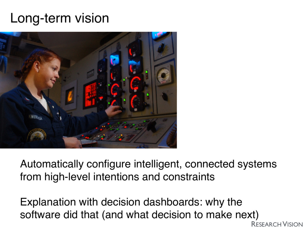 Long-term vision Automatically configure intelli...