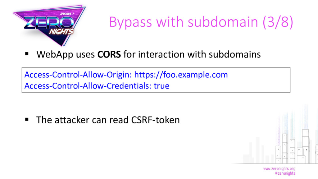  WebApp uses CORS for interaction with subdoma...