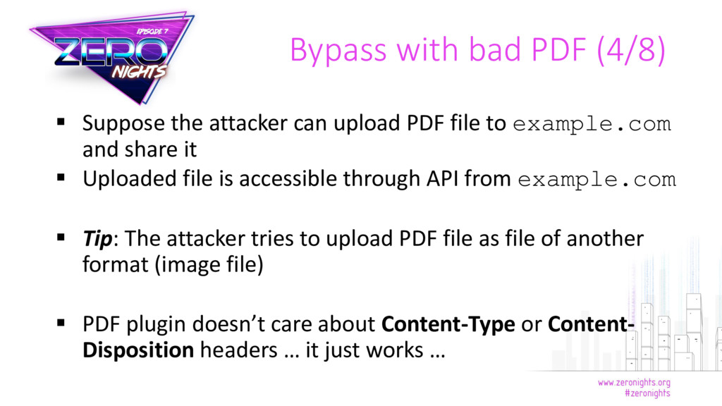  Suppose the attacker can upload PDF file to e...