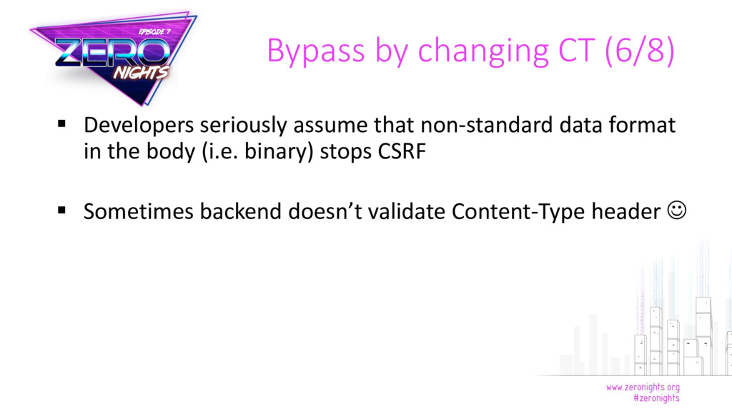  Developers seriously assume that non-standard...