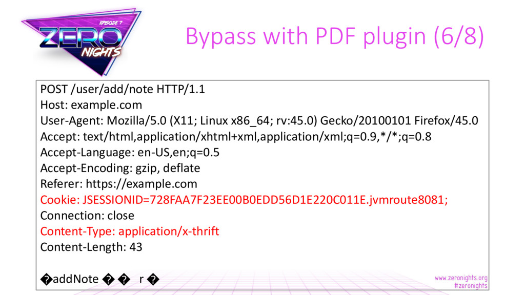 Bypass with PDF plugin (6/8) POST /user/add/not...