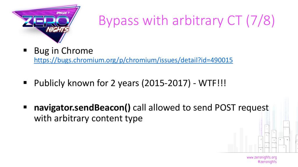  Bug in Chrome https://bugs.chromium.org/p/chr...