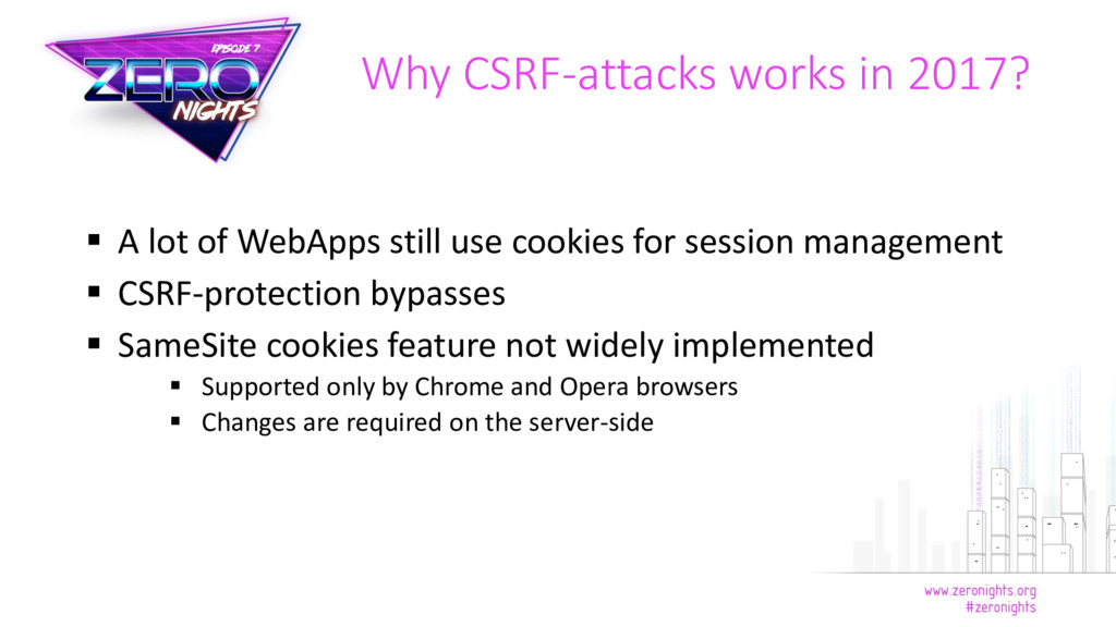  A lot of WebApps still use cookies for sessio...