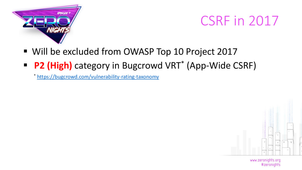  Will be excluded from OWASP Top 10 Project 20...