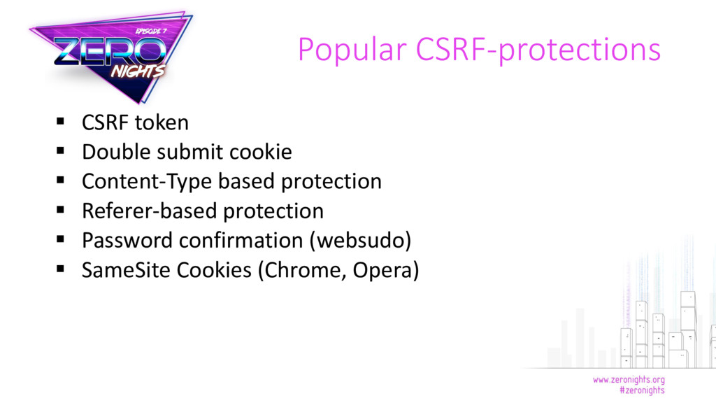  CSRF token  Double submit cookie  Content-T...