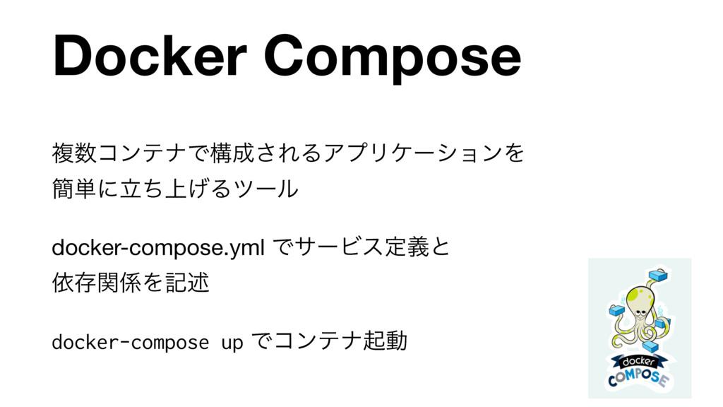 Docker Compose ෳίϯςφͰߏ͞ΕΔΞϓϦέʔγϣϯΛ ؆୯ʹ্ཱͪ͛Δπ...
