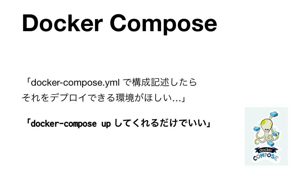 Docker Compose ʮdocker-compose.yml Ͱߏهड़ͨ͠Β ͦΕ...