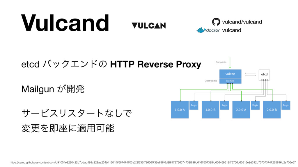Vulcand etcd όοΫΤϯυͷ HTTP Reverse Proxy Mailgun...