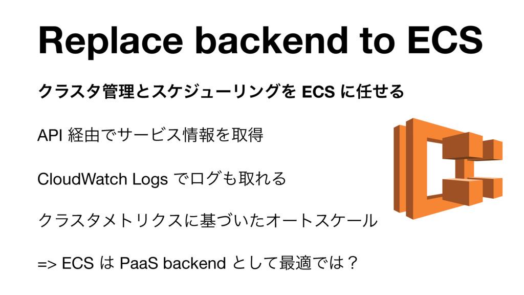 Replace backend to ECS ΫϥελཧͱεέδϡʔϦϯάΛ ECS ʹͤ...