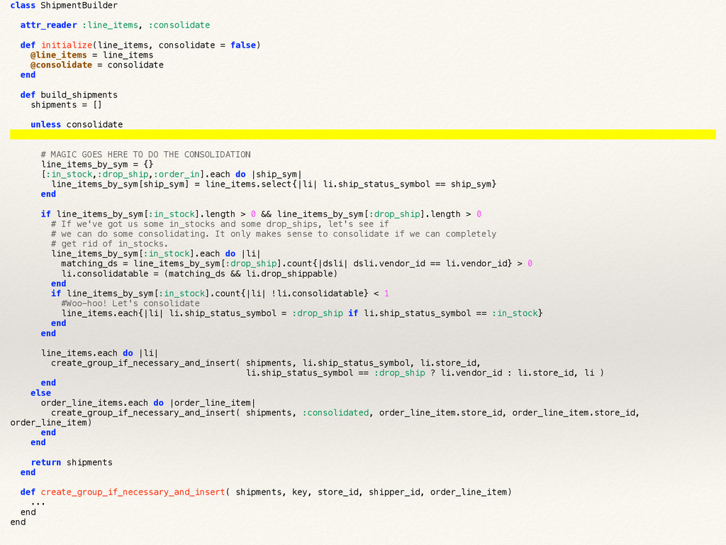 class ShipmentBuilder attr_reader :line_items, ...